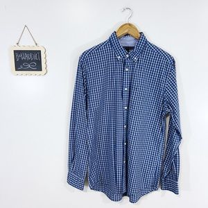 [T. Hilfiger] Men's Checkered Classic Fit Shirt